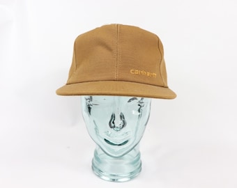 90s New Carhartt Spell Out Duck Brown Canvas Snapback Hat Cap USA Cotton d9d30a235ea9