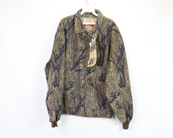 ade3d485bfa05 90s New Pella Mossy Oak Treestand Saddlecloth Unlined Hunting Mens XL  Brown, Vintage Camouflage Jacket, Camo Jacket