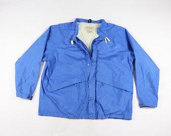 022594e08f9bd 80s LL Bean Mens XL Stowaway Rainwear Goretex Full Zip Rain Jacket Blue, Vintage  LL Bean Jacket, Mens Jacket, 80s Gore Tex Jacket Coat,