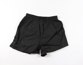 13e92acb9 70s New Yale West Point Pepperell Mens Small Sanforized Cotton Gym Shorts  Black