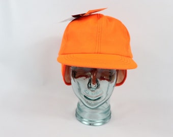 c12482d47aa26 90s New Whitewater Outdoors Thinsulate Goretex Ear Flap Hunting Hat Orange  Mens Large