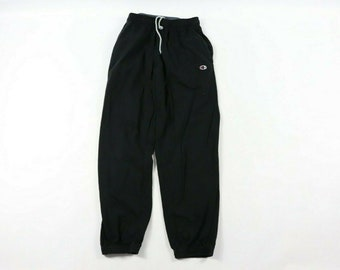 ab7bacc71fd4 90s Champion Classic Logo Cotton Joggers Jogger Sweatpants Pants Mens Large  Black