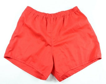 0733712bf 90s New Mens Large Running Jogging Soccer Shorts Red Cotton USA Made