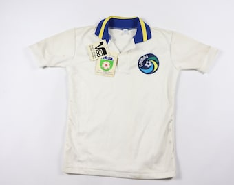 40cc17ea975 80s New Youth Large New York Cosmos NASL Soccer Jersey White Blue USA