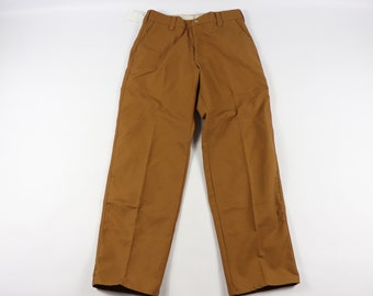f00872845ed7c New 80s LL Bean Mens 32x34 Outdoor Rubberized Cotton Field Pants Brush  Brown, Vintage LL Bean Field Pants, 80s LL Bean Hunting Pants,