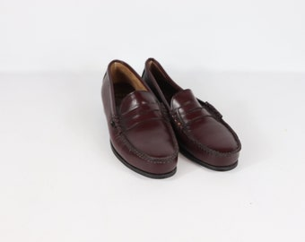 516b3feb566b New Double H Mens 9 W Leather Steel Toe Safety Penny Loafers Shoes Oxblood