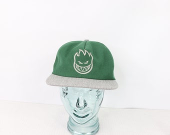 01bbd6f545a65f 90s Spitfire Skateboards Spell Out Adjustable Snapback Hat Cap Green, 90s Spitfire  Skateboards, 90s Spitfire Snapback Hat, 90s Hat,