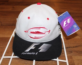 7e3edf88393 90s Deadstock Formula 1 F1 Racing World Championships Spell Out Cotton Dad Hat  Cap Gray