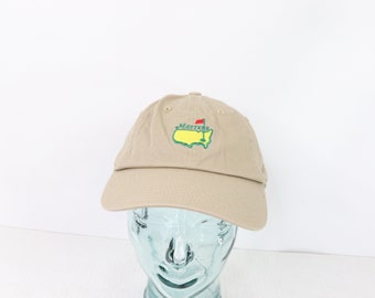8ce41c4248241 90s American Needle The Masters Augusta Golf Spell Out Cotton Dad Hat
