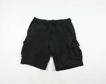 1510d723d5 90s Polo Ralph Lauren Spell Out Cargo Shorts Mens Size Large Black Cotton,  Vintage Ralph Lauren Cargo Shorts, Mens Shorts, Ralph Lauren