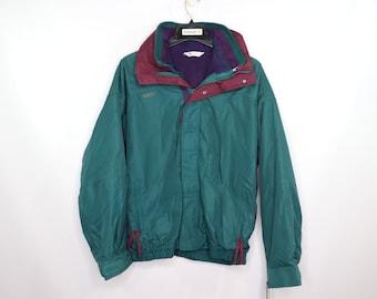 e7075ceb29dd8 90s New Columbia Bugaboo 2 in 1 Full Zip Parka Winter Fleece Jacket Mallard  Green