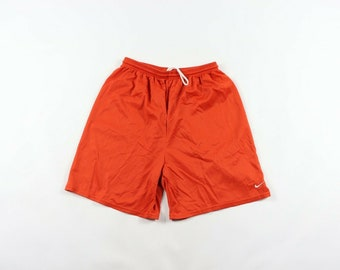 9b54be43f0 90s Nike Small Swoosh Logo Travis Scott Mesh Basketball Shorts Mens Large  Orange, Vintage Nike Mesh Shorts, 1990s Nike Shorts, Mens Short