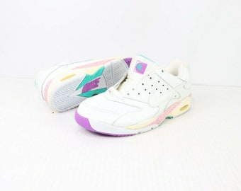 c5c685b9aef 90s New Nike Air Challenge Court Andre Agassi Tennis Shoes Womens Size 9  White
