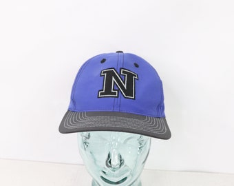 8ae2f1f5 90s Nike Block N Spell Out Adjustable Snapback Hat Cap Blue Black Nylon, Vintage  Nike Hat, Vintage Hat, Retro Snapback Hat, Vintage Nike