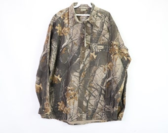 453fcf60fb7a9 90s New Spartan Outdoors Mens 2XL XXL Realtree Hardwoods Chamois Cloth  Shirt, 90s Mossy Oak, Mossy Oak Camo, Vintage Camo Shirt,