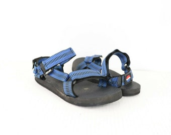 99db94b93 90s Teva Pepsi Cola Promo Summer Athletic Sport Strappy Sandals Mens Size 8  Blue Black