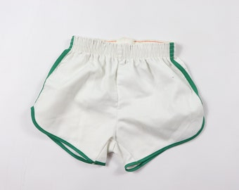 60c5c7993 70s New Merrygarden Striped 50 50 Gym Soccer Shorts White Green Youth