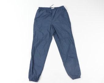 Gprince Mens Elastic Waist Japanese Style Straight Tube Sweatpants Navy Blue L