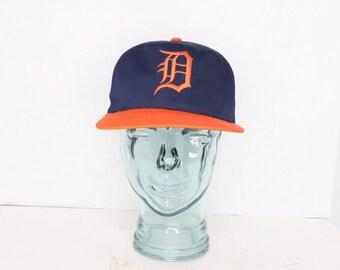 d3130def1d6 90s American Needle Gatorade Detroit Tigers MLB Baseball Snapback Hat Blue