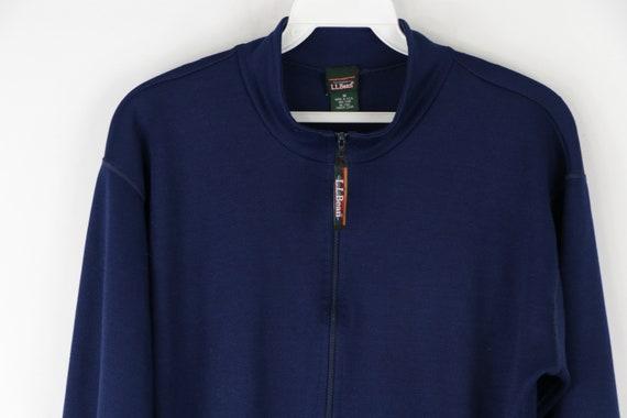 90s LL Bean Long Sleeve Half Zip Thermal Sweater … - image 2