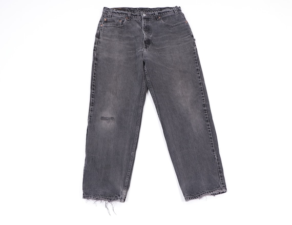 90s Levis 550 Distressed Faded Relaxed Fit Denim J