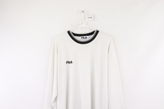 90s Fila Bjorn Borg Spell Out Long Sleeve Shirt T… - image 2