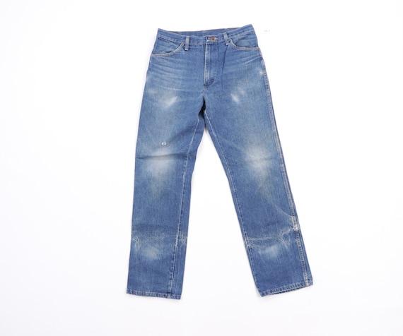 70s Rustler Distressed Straight Leg Denim Jeans B… - image 1