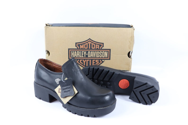 90s 8 Sidecar 5Vintage Harley Leather Black Oxford Shoes Womens Motorcycles Davidson New ShoesMotorcycle thCBQrxdso