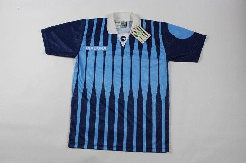 4335f5cfdda 90s New Diadora Short Sleeve Striped Italia Italy National