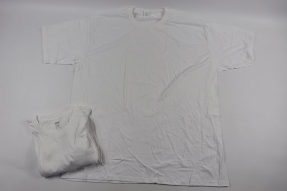 90s New Lot of 2 Blank Single Stitch Short Sleeve… - image 4