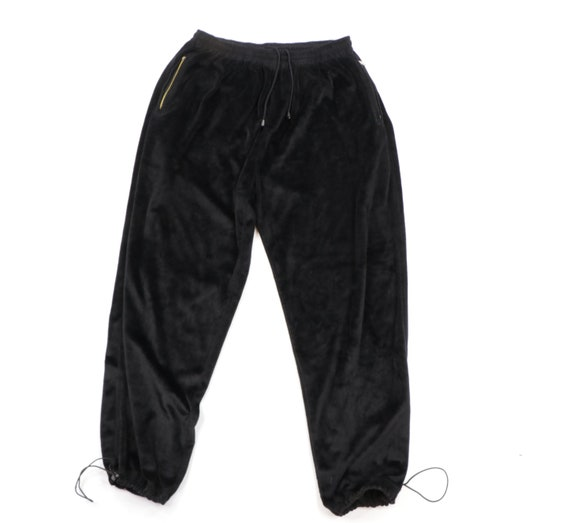 90s Streetwear Velour Adjustable Cuff Joggers Jogg