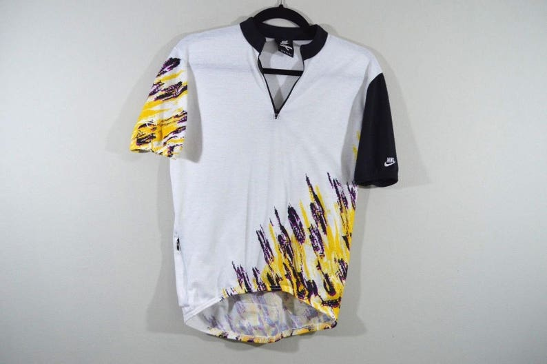 822f3bb8c 90s Nike Echelon Spell Out Half Zip Abstract Cycling Bicycle