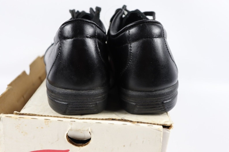 d5cf3ed1c1812 80s New Red Wing Shoes 6604 Steel Toe Moc Leather Work Shoes Mens 8.5 D  Black, Vintage Red Wing Shoes Steel Toe Oxfords, Vintage Red Wing