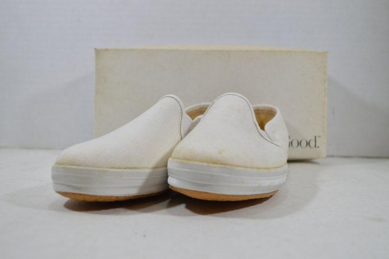 413c3d9323f Vintage 90s Keds Champion Slip On Shoes Womens White Vintage