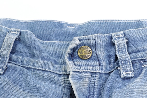 70s Sears Distressed Faded Carpenter Denim Jeans … - image 6