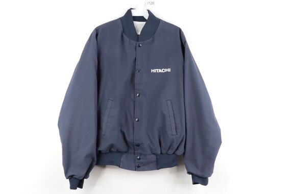 80s Hitachi Spell Out Mechanic Bomber Work Jacket