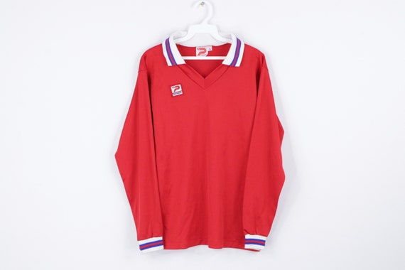 NOS 70s Patrick Spell Out Long Sleeve Soccer Jerse