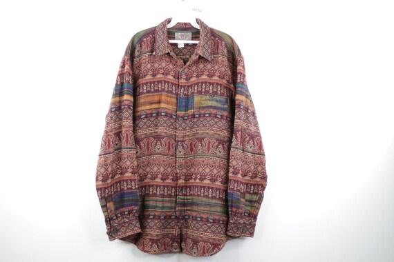 90s Streetwear Jacquard Tapestry India Geometric B