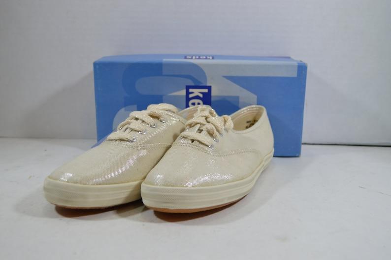 4659c3b6154 Vintage 90s Keds Champion Metallic Silver Walking Shoes
