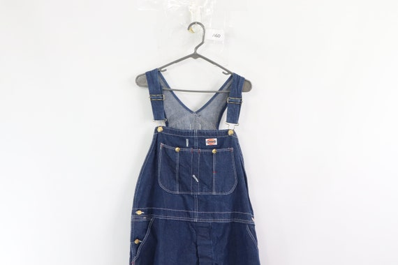 90s Dickies Spell Out Patch Denim Jean Overalls Bi