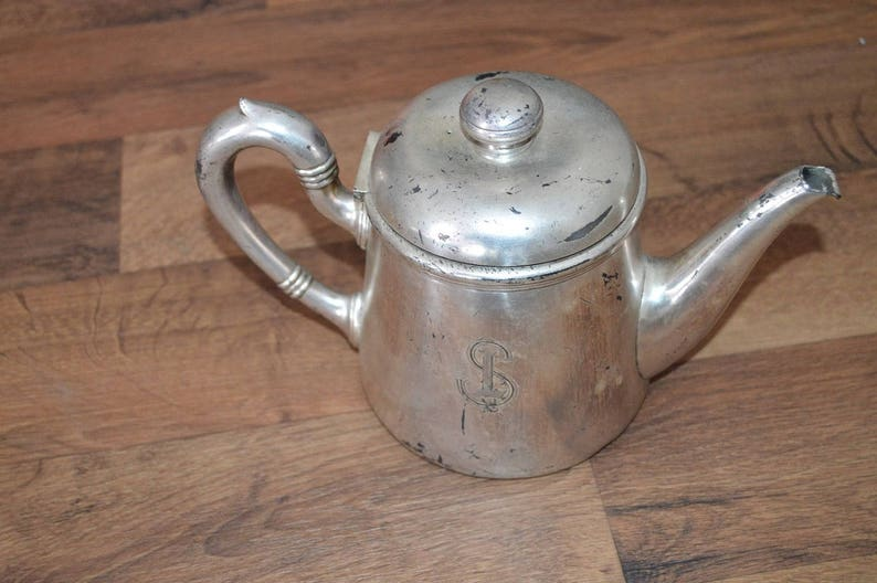 Vtg vintage E BROGGI MILANO incisa bollitore da tè in teiera  948bc9fb23e4