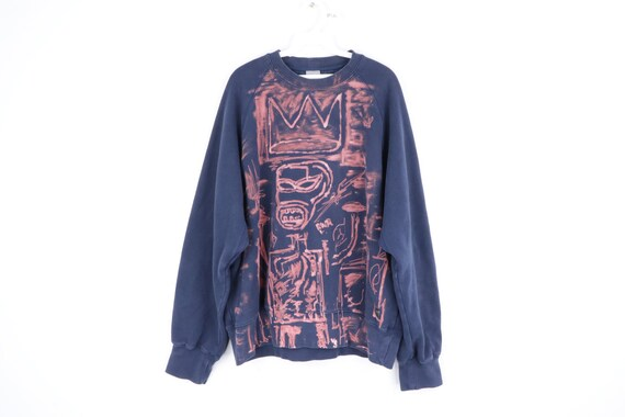 90s Nike Custom Basquiat Style Art Crewneck Sweats