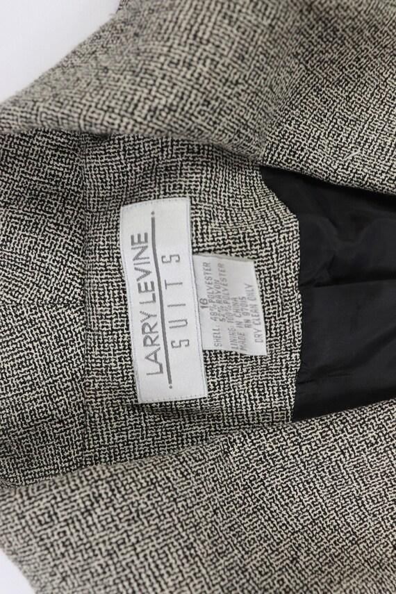 90s NOS Larry Levine Knit 2 Piece Blazer Pant Sui… - image 6
