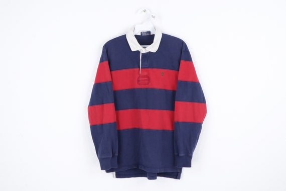 90s Ralph Lauren Color Block Long Sleeve Rugby Pol