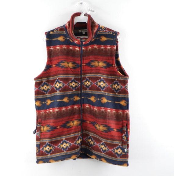 90s Streetwear Navajo Southwestern Print Full Zip