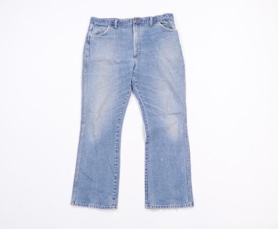 70s Rustler Distressed Bootcut Denim Jeans Blue US