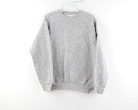 80s Streetwear Blank Crewneck Sweatshirt Heather G