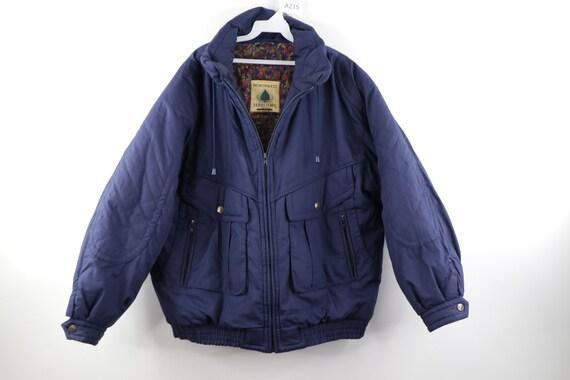 90s Streetwear Zip Outdoor Blank Winter Puffer Bom