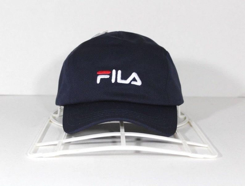 d544dbd91 Vintage Deadstock Fila Bjorn Borg Tennis Spell Out Strapback Panel Hat Cap  Navy Blue, Vintage Fila Hat, Snapback Hat, Bjorn Borg Hat, Cap