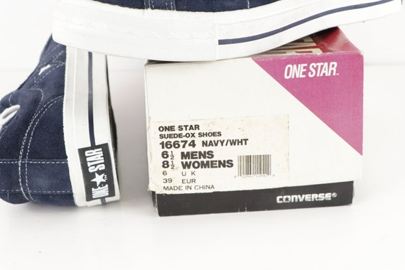 90s NOS Deadstock Converse One Star Suede Ox Snea… - image 9